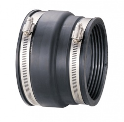100 -115mm PVC to 127 - 136mm Clay Flexible Adapter
