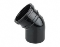 45 Degree Single Socket Bend - Black