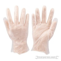 Disposable Vinyl Gloves 100 pack