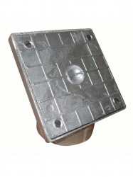 Square Aluminium Rodding Point Cover