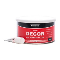Metolux 2 Part Decor All Purpose Filler - Light Grey 500g