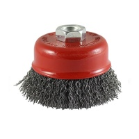 Angle Grinder Cup Brush - Crimped Steel Wire 100mm