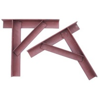 Steel Gallows Brackets - pair - Red Oxide
