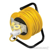 25m 110V Cable Reel - 2 Sockets