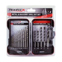 Timco Addax Ground Jobber & Masonry Drill Set 17pc