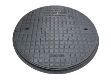 450mm Cast Iron Round Chamber Cover & Plastic Frame