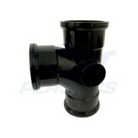90 Degree Triple Socket Branch Bossed - Black