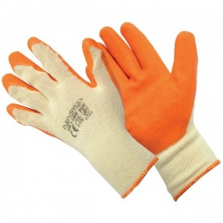 Orange Latex General Safety Gloves