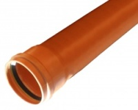 110mm Pipe 3m Length - Single Socket
