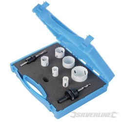 Electricians Holesaw Set - 9 Piece - 18 to 51mm