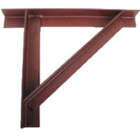 Gallows Bracket Single - Red Oxide