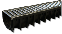 Channel Drainage - 1.0m Length - Galvanised Grid