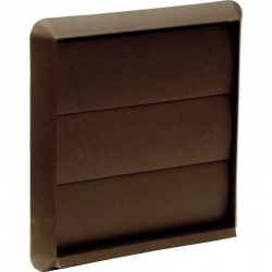 Wall Outlet Flap 100mm - White & Brown