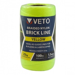 Veto Nylon Brick Line - Tube - Yellow 1.5mm x 100m