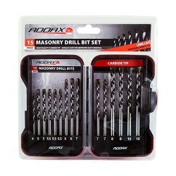 Timco Addax Masonry Drill Bit Set 15pc