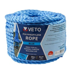 6mm Blue Rope Draw Cord 30m