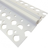 White PVC 10mm Movement Joint Bead 2.5m