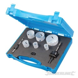 Plumbers Holesaw Set - 9 Piece - 19 to 57mm
