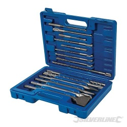SDS Plus Masonry Drill & Steel Set - 15 piece
