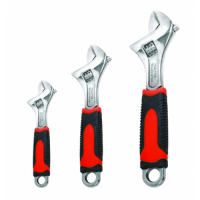 Soft Grip Adjustable Wrench Set - 3 piece