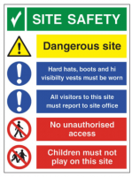 Site Safety Sign 400 x 300mm