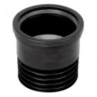 Straight Drain Connector - Black