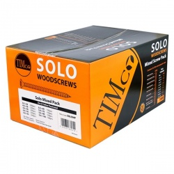 Solo Woodscrews - Mixed Pack 1400 - PZ - Double Countersunk - Yellow