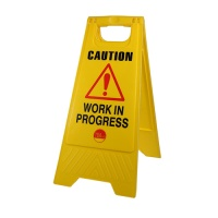 A-Frame Safety Sign - Caution Work in Progress 610 x 300 x 30