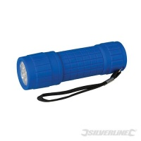 LED Soft Grip Torch 100mm